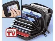 Accordian Style Credit Card Wallet (Black)