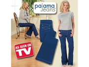 Pajama Jeans Knit-Style Denim Pants with Pockets
