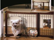 Pet Store Adjustable Pet Gate w/ Metal Door