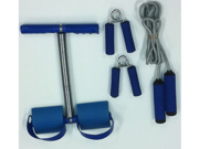 4 Piece Fitness Set- Sit Up Bar, Hand Grips and Jump Rope