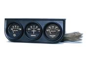 Auto Meter Autogage Black Oil/Amp/Water Black Console
