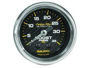 Auto Meter Carbon Fiber Mechanical Boost Gauge