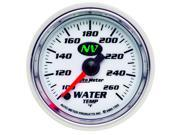 Auto Meter NV Electric Water Temperature Gauge