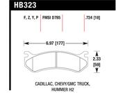 Hawk Performance HB323F.724 Disc Brake Pad