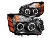 Anzo USA 111095 Headlight Assembly&#59; Projector w/Halo ARMADA PATHFINDER TITAN
