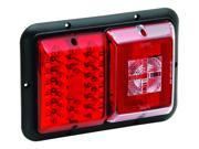 Tail Light, LED, #84 Double w/ Backup, Hor Mount, Red