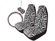 Brookstone Ipod4-O001 4Pc Zebra Kit-Pink Piping