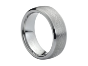 Tungsten Carbide Laser Engraved Celtic Knot 8mm Wedding Band Ring
