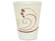 Symphony Design Trophy Foam Hot/Cold Drink Cups, 12 Oz., Beige, 100/Pa