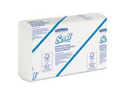SCOTT SLIMFOLD Towels, 7 1/2 x 11 3/5, White, 110 per Pack, 24 Packs p