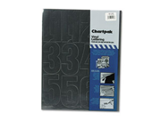 Chartpak CHA01193 Vinyl Numbers- 4in.- Black