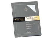 Parchment Specialty Paper, Blue, 24 Lbs., 8-1/2 X 11, 100/Box