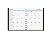 MiracleBind 17-Mo. Academic Planner, Hard Cover, 9-1/4 x 7-1/4, Black,