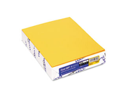 Fore MP Recycled Colored Paper, 20lb, 8-1/2 x 11, Goldenrod, 500 Sheet