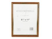 EZ Mount Document Frame, Plastic, 8-1/2 x 11, Walnut