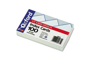 Grid Index Cards, 3 X 5, White, 100/Pack