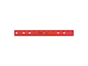 "SchoolWorks Plastic Ruler, 12"", Assorted"