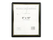 EZ Mount Document Frame, Plastic, 8 x 10, Black
