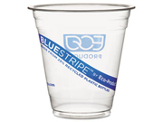 Eco-Products Recycled Content Clear Plastic Cold Drink Cups, 9 oz., Clear, 50/Pack