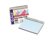 Oxford 40286 Spiral Index Cards, 4 x 6, Blue/Violet/Canary/Green/Cherry, 50/Pack