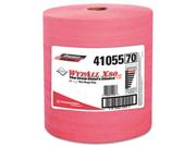 WYPALL X80 Wipers, HYDROKNIT Roll, 12 1/2 x 13 2/5, Red, 475/Roll, 1 R