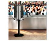 SmartStock Cutlery Dispenser, Stand, 18 1/4 dia x 42h, Black