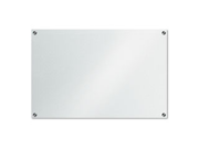 GlassX Frosted Glass Dry Erase Board, 35 x 23, Unframed