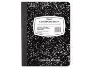 Black Marble Composition Book, Wide Rule, 9-3/4 X 7-1/2, 100 Sheets