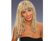Adult Blonde Beaded Caribbean Girl Costume Corn Row Wig