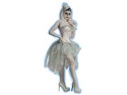 Women's Sexy White Ghost Costume Bustle Tu Tu Burlesque Tutu Skirt