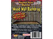 Large 100 Feet Haunted House Decor Rotted Wood Panel Wall Decals