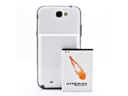 Hyperion Samsung Galaxy Note II 6200mAh Extended Battery + White Back Cover (...
