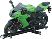 Pit Viper Portable Motorcycle Dolly Stand with Kickstand Track