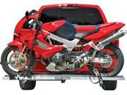 """Hitch Mounted Aluminum Sport Bike & Motorcycle Carrier with a 600 lb. Capacity and 72"""" Loading Ramp"""