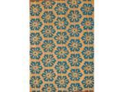 Cocoa Matting 'Blue Burst' Tan Door Mat (16 x 24)