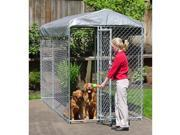 Lucky Dog Yard Guard Chain Link Box Kennel (7'H x 5'W x 10'L)