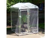 Lucky Dog Hi-Rise Chain Link Box Kennel 6'H x 4'W x 4'L