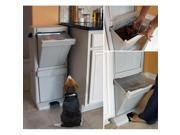 Richell Pet Stuff Polypropylene Storage Tower with Snap-lock Lids