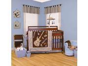 Trend Lab Rockstar Organic 6-Piece Crib Bedding Set