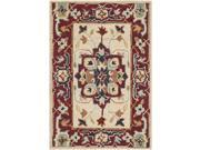 Safavieh Hand-hooked Chelsea Red/ Ivory Wool Rug (1'8 x 2'6)