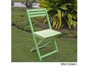 Acacia Hardwood Sky Blue, Mint Green, Bard Red Folding Chairs (Set of 2)