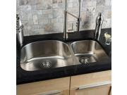 Clark Stainless Steel 70/ 30 Double-bowl Kitchen Sink