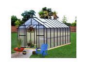 Monticello 8-foot x 16-foot Black Premium Greenhouse