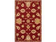 Hand-Tufted Naas Red/Ivory Traditional Floral Wool Rug (8' X 11')