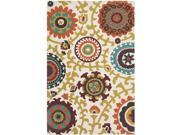 Safavieh Handmade Cedar Brook Ivory/ Orange Cotton Rug (6' x 9')