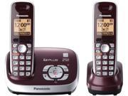 Panasonic KX-TG6572R 1.9 GHz Digital Cordless Phones with 2X Handsets
