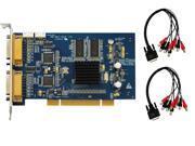 8 Channel Saber CCTV Hybrid Business Grade DVR Card H.264 D1 Resolution