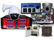 56 Channel Hybrid Enterprise DVR PTZ Surveillance System H.264 D1 Resolution Video Security