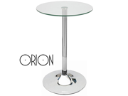 "MODERN GLASS TABLETOP BAR TABLE -CONTEMPORARY PUB TABLE -39"" TALL GLASSTOP-ORION"