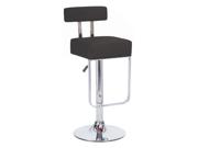 Blok Contemporary Adjustable Barstool - Black